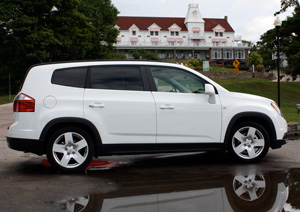 General Motors new Chevrolet Orlando was unveiled to the media on a drive through Muskoka, Ontario.