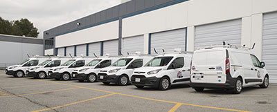 Ford Transit Connect CNG coverted vans