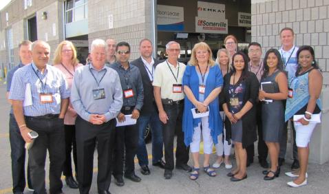 EMKAY Canada team members and customers at  the Manheim Toronto Auction