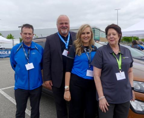 Brent Smith, Ford, Mate Vrgoc, Valeant, Nicole Gauthier, Ford and Dale Gilbert Element with the new EcoSport