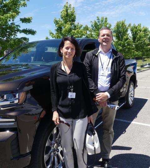 Sue Wood and John Surmak, Jim Pattison Lease were keen to drive the new Silverado