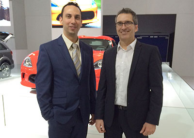 David Bellitto, Chrysler Canada Inc., and Jean Champoux, SC360, with the Dodge Viper