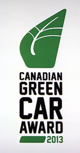 2013 Green Car of the Year logo