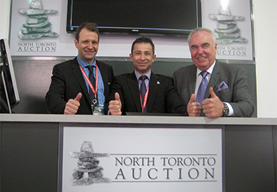 Founding NTA partners Matt Rispin, Frank Panza and Stu Ralph give NTA's future a thumbs up at the celebration sale