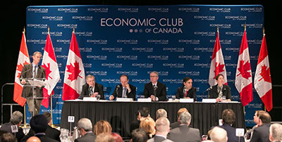 Andrew Bell, BNN, was the facilitator for a panel of chief economists