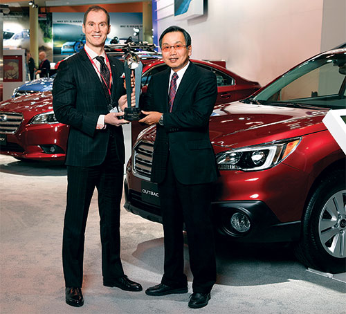 Geoff Helby, Canada Regional Director, ALG and Shiro Ohta, Chairman, President, and CEO of Subaru Canada, Inc