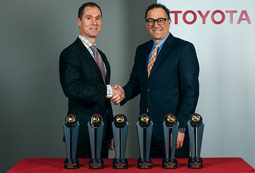 Geoff Helby, Canada Regional Director, ALG and Cyril Dimitris, VP of Sales and Marketing, Toyota Canada Inc