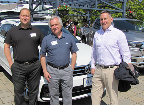 Thomas Roth, VW, Brian Horwith, ARI and Todd Sturza, TD Bank at the OEM Corral.